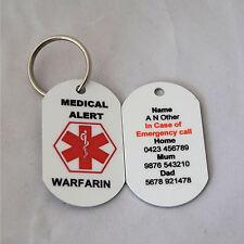 Personalised Medical Alert Keyring for Warfarin