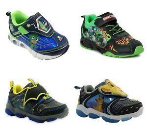 Batman, PJ Masks, Monster Jam Toddler Boys' Light-up Athletic Sneakers Shoes