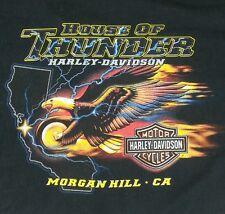 Harley Davidson 2XL XXL Metallic Eagle Steel House Thunder Morgan Hill T-Shirt