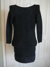 Victoria Secret Moda International Sexy Sweater Dress Open Back Backless SZ M