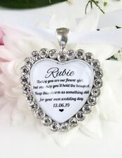 Flower Girl Bouquet Charm Sparkling Diamantés Wedding Gift Accessories