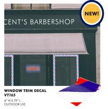 "Barber Shop Window Barber Stripe Trim decal 6"" x 90"" #AYVT165"
