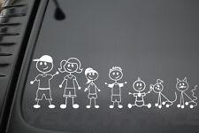 WHITE COLOR FAMILY STICK CUSTOM STICKER CAR WINDOW VINYL DECAL