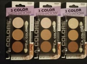 Lot of 3 L.A. Colors 3 Color Eyeshadow Trio CBES622 SUNFLOWER  Multidimensional