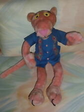 "2002 Plush 21"" Pink Panther Doll United Artist Wearing Blue Shirt Poseable J6"