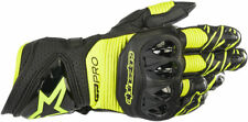 Alpinestars GP PRO R3 Leather Road Racing Gloves (Black/Fluo Yellow) M (Medium)