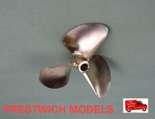 "PROPELLER 7214 /3 BRONZE  rc boat for 6.35mm 1/4"" shafts dog drive"