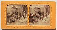 Scena Da Genere La Lettura Parigi Francia Stereo Vintage Albumina Ca 1860