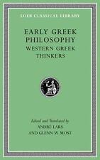 Loeb Classical Library: Early Greek Philosophy : Western Greek Thinkers...