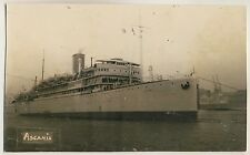 "France SHIP ""ASCANIA"" Compagnie Paquet / Bateau Schiff * Vintage 1920s Photo PC"