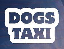 Car Sticker DOGS TAXI Funny Novelty Van Window Bumper Boot Door Decal