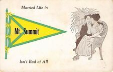 """Married Life Isn't Bad at All"" in Mt Summit Indiana~Couple Share Chair~1913 PC"