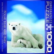 EUROGRAPHICS JIGSAW PUZZLE POLAR BEAR AND BABY WILDLIFE 1000 PCS #8000-1198