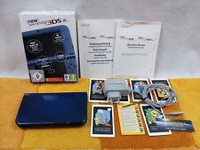 New Nintendo 3DS XL 4GB Metallic Blau +Zubehörpaket: + Ladekabel + AR + OVP + A.