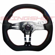 6-BOLT Red Steering Wheel Flat Bottom Polaris Slingshot/RZR - FREE SHIPPING