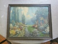 """R. Atkinson Fox Framed Print- 1920s- Mint Condition- 15.5"""" tall x 19.5"""" wide"""