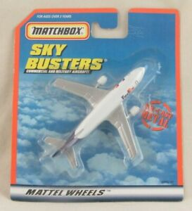 Matchbox Sky Busters FedEx A300B Airbus Plane Die-Cast Sealed on Card
