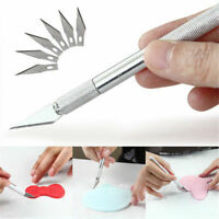 7Pcs Practical Metal Handle Craft Knife With Blade Scalpel Cutter Engraving Tool