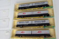 Lot Of 4 Minitrix N Scale Container Cars