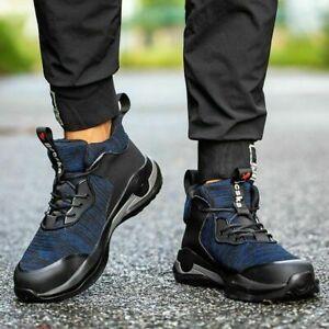 Chaussures sécurité pour hommes Bottes travail légères à bout en acier Baskets