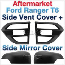 Ford Ranger PX MK2 T6 2015 2016 Matte Matt Black Side Vent Mirror Cover M-Sport