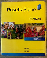 Rosetta Stone FRENCH Lessons Totale Version 4 Level 1 Prompt Shipping!