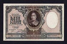 F.C. 1000 PESETAS ENERO 1940 , SERIE A , EBC- , DOBLEZ CENTRAL MUY MARCADO .