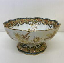 More details for antique doulton burslem art nouveau beverley pattern large pedestal bowl b27