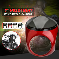 7inch Motorcycle Headlight Handlebar Fairing Windshield For Harley Cafe Racer