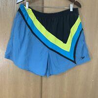 Speedo Mens Swim Trunks Shorts Lined Classic Colorway Size XL Blue Yellow Black