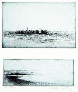 """""""Landschaften"""" 1979. 2 Aquatinta-Radg. Klaus BÖTTGER (1942-1992 D), handsigniert"""