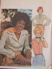 Lovely VTG 70s BUTTERICK 4042 MIsses Shirts in 3 Versions PATTERN 10/32.5B