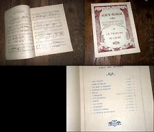 Album Musical Tribune de l'Aube recueil partitions piano chant airs opéra 1900