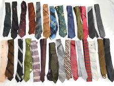 Lot of 25 Vintage Skinny Tie Ties - most/all under 3 inches wide   (lot 1)