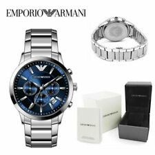 EMPORIO ARMAN1 AR2448 MENS WATCH BLUE DIAL STAINLESS STEEL WITH 3 YEARS WARRANTY