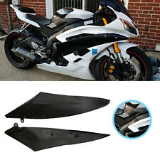 2x Black Tank Side Fairing Panel Gas Cover For Yamaha YZF R6 2006 2007 R6 06-07