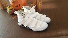 Nike Mens Zoom Lebron Soldier Xl 897644-101 White Black Basketball Shoes Size 14