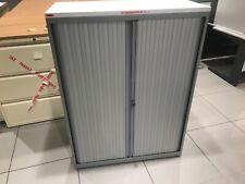 Bisley Tambour 2 Door Filling Cabinet Metal Office Storage Unit Grey WALTON