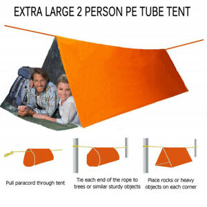 Foldable Tent Emergency Survival Hiking Camping Shelter Outdoor WaterproofB`hw