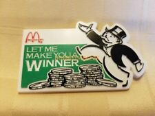 Vintage McDonald's Monopoly Game Employee Crew Lapel Pin