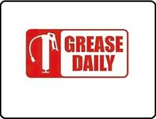 """New listing Grease Daily Equipment Maintenance Safety Vinyl Decal 1.5"""" X 3"""" post is for 50"""
