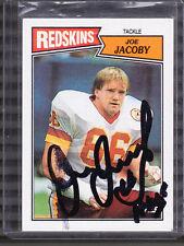 Joe Jacoby Auto Signed 1987 Topps 72 HOF ?