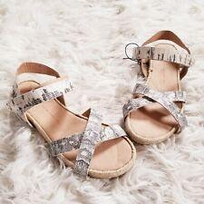 8f984e8ff NWOT Gap Womens Leather Ankle Strap Espadrille Sandals Sz 9
