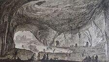 CARDON d'après GIUSEPPE BRACCI : Grotta vicino , S. Maria Capella Vecchia.18 ème