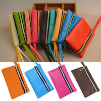 Utility Zipper Type Leather Phone Case Pouch Wallet Women Coin Bag Purse New