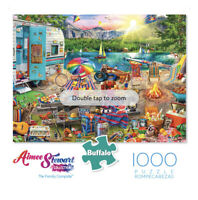 Sealed Buffalo Games Aimee Stewart Family Campsite 1000 Piece Jigsaw Puzzle NEW