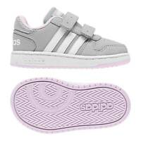 Adidas Girls Running Shoes Infants Sneakers Hoops 2.0 Babies Sporty F35896 New