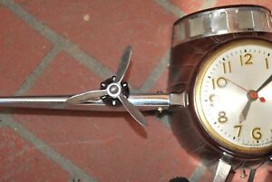Master Crafters Sessions Airplane Clock Replacement METAL Propeller Style 2