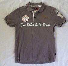 ROBE KAPPA Saint Tropez authentic gray cotton pique slim fit polo shirt MEDIUM