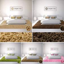 Bettumrandung Shaggy Hochflor 3teiliges Läuferset Einfarbig Uni Schlafzimmer